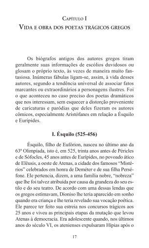 vida e obra dos poetas trágicos gregos