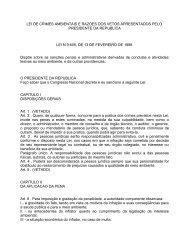 LEI DE CRIMES AMBIENTAIS E RAZOES DOS VETOS ...