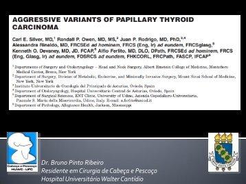 Variantes agressivas de carcinoma papilífero de tireoide