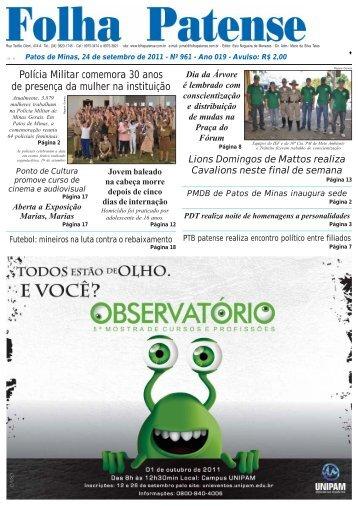 Folha Patense 24/09/2011(nº 961