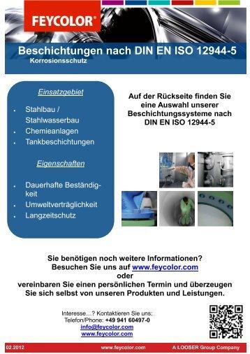 Beschichtungen nach DIN EN ISO 12944-5
