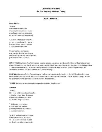 Libreto de Vaselina