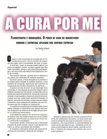 A cura por meio do passe - Revista Cristã de Espiritismo