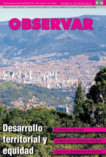 Desarrollo territorial y equidad - Comfama