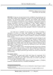 erros gramaticais em propagandas - Revista Mundo & Letras