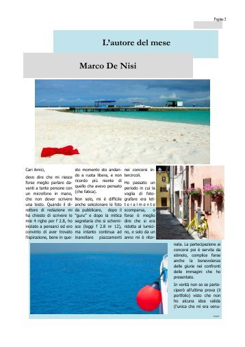 L·autore del mese Marco De Nisi
