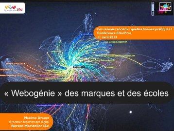 « Webogénie » des marques et des écoles