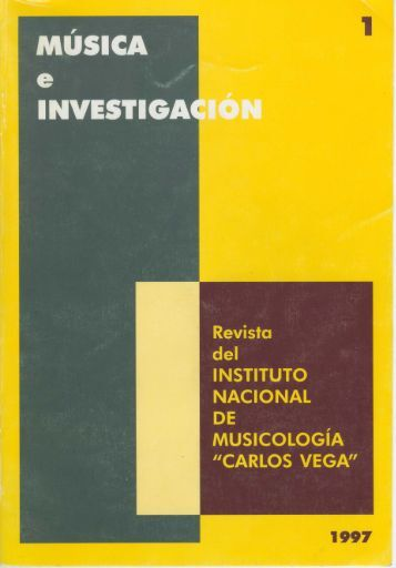 Música e Invetigación Nº 1 - Instituto Nacional de Musicología ...