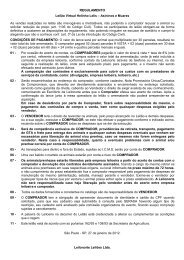 REGULAMENTO Leilão Virtual Helinho Lelis ... - Leilonorte.com.br
