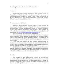 Dados biográficos de Pedro José Versiani Filho (médico)