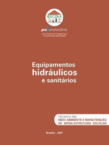Equipamentos hidráulicos e sanitários - Ministério da Educação