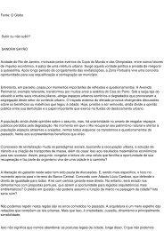 Fonte: O Globo Subir ou não subir? SANDRA SAYÃO ... - aarffsa