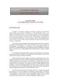 La ficción visible. LA LITERATURA GALLEGA Y EL CINE.