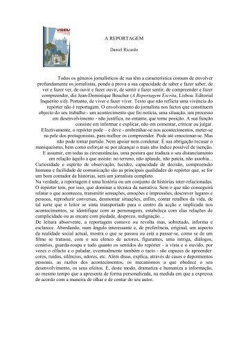 """""""A Reportagem"""" - Daniel Ricardo"""