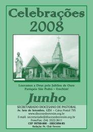 Celebrações JUN 2008.p65 - Diocese de Erexim