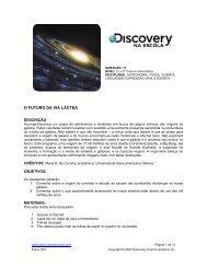 O FUTURO DA VIA LÁCTEA - Discovery na Escola