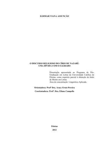 O Discurso Religioso do Círio de Nazaré - Uma Dívida com o Sagrado
