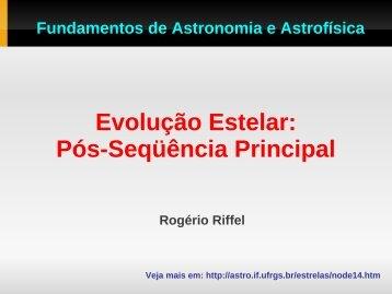 Aula 23: Evolução estelar - Instituto de Física - UFRGS