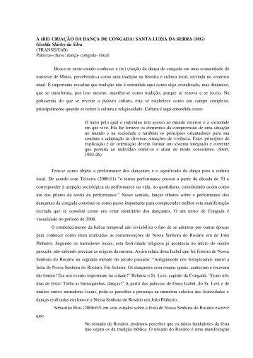 Giselda Shirley da Silva - A RE CRIACAO DA ... - Portal ABRACE