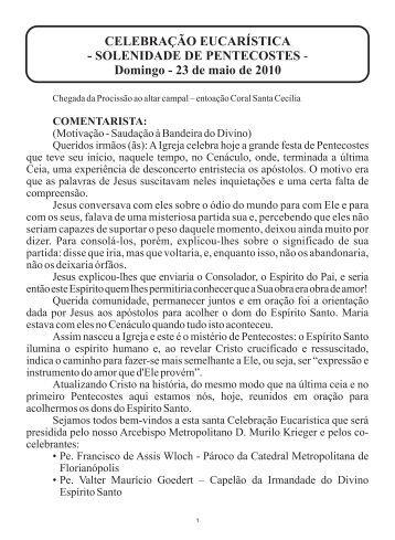 Domingo - Texto.cdr - Festa do Divino Espírito Santo em ...