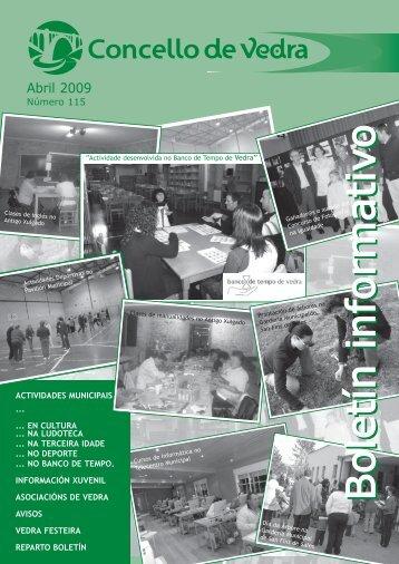 Boletín Abril 2009-3 - Concello de Vedra