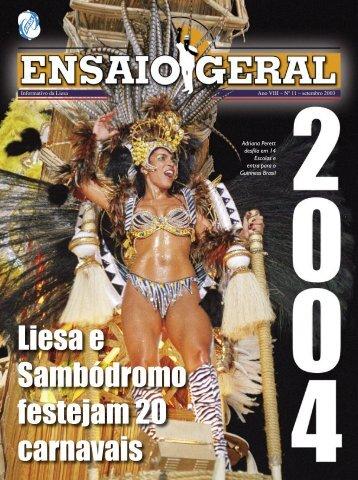 ensaio geral setembro - Liesa - Globo