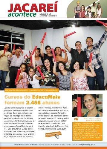 Cursos do EducaMais formam 2.456 alunos - Prefeitura de Jacareí