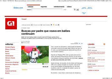 G1 > Brasil - NOTÍCIAS - Buscas por padre que voava em balões...