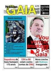 leia aqui toda a entrevista de Eduardo Vítor - Notícias de Gaia