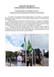 Comando do 3º Distrito Naval Participa de ... - Marinha do Brasil