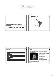 CENÁRIOS E TENDÊNCIAS - Canal dos Concursos