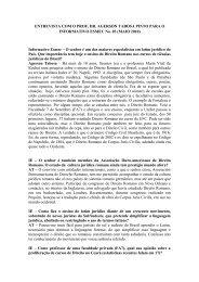 ENTREVISTA COM O PROF. DR. AGERSON TABOSA PINTO PARA ...