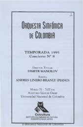 ORQUESTA SinFÓniCA DE COLomBIA TEMPORADA 1995