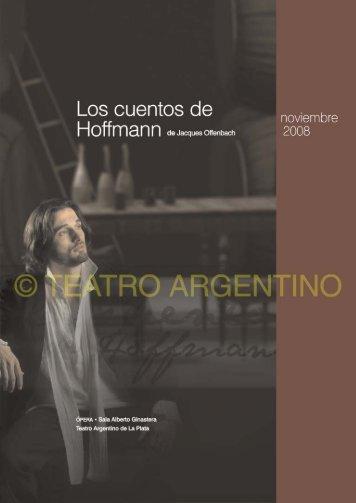 Programa de mano - Teatro Argentino