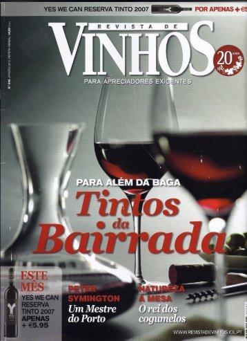 Revista de vinhos nº242 Entrevista Quinta Jan 2010 - Casaboa