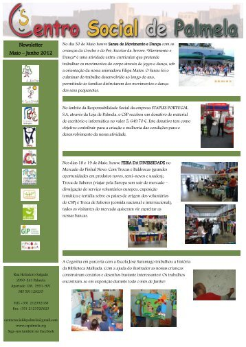 Newsletter Maio – Junho 2012 - Centro Social de Palmela