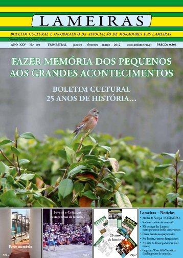 Boletim Cultural n.º 101 - janeiro a março - Associação de ...