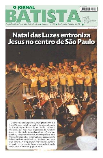 Acesse aqui o Jornal e leia Mais - Primeira Igreja Batista em Itambi