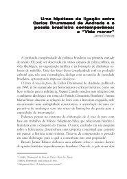 Uma hipótese de ligação entre Carlos Drummond de Andrade ...