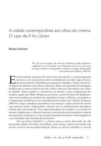 A cidade contemporânea aos olhos do cinema O ... - Alceu - PUC-Rio