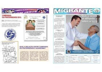 campanha da fraternidade 2012 - Paróquia Bom Jesus dos Migrantes