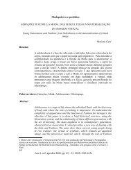 Modapalavra e-periódico GERAÇÕES JUVENIS EA MODA - CEART