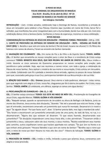 O POVO DE DEUS FOLHA SEMANAL DA ARQUIDIOCESE DE ...
