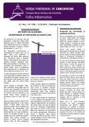 Edição nº 1558 - 21 de Fevereiro de 2010 - Paróquia de Carcavelos