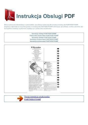 Instrukcja obsługi PARTNER P3540P - INSTRUKCJA OBSLUGI PDF