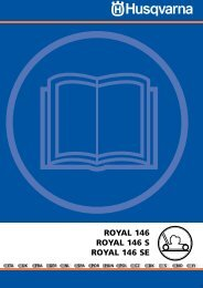 OM, Royal 146, Royal 146 S, Royal 146 SE, 2002-01 ... - Husqvarna
