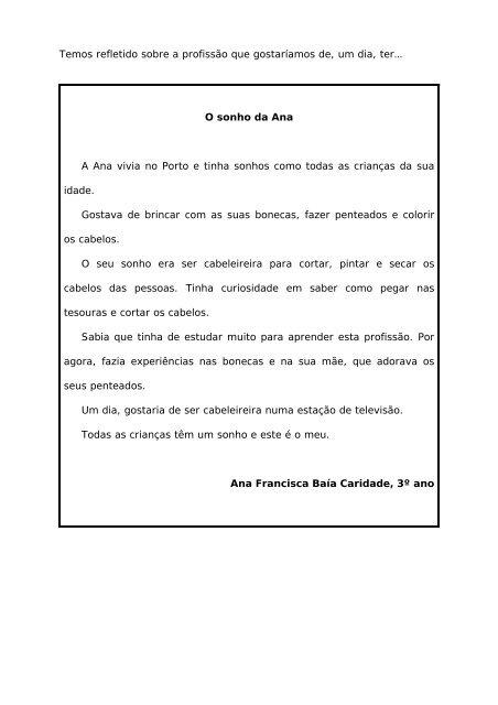 A Minha Profissao Colegio Vieira De Castro