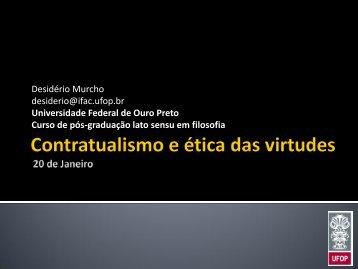 Contratualismo e ética das virtudes - Desidério Murcho
