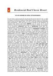 ata de assembléia geral extraordinária - Realclassic.com.br