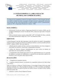 A União Europeia e a Organização Mundial do Comércio (OMC)